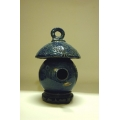 High Fired Birdhouse - Cobalt Blue
