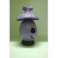 High Fired Birdhouse - Purple