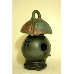 Raku Pit Fired Birdhouse - Smoked