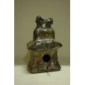 Raku Pit Fired Birdhouse - Square
