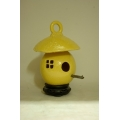 High Fired Birdhouse - Yellow